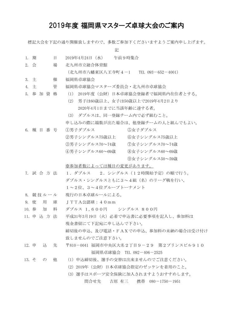 2019年福岡県マスターズ4.24要項のサムネイル