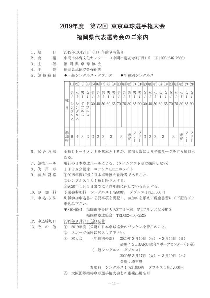 2019年一般8-15東京選手権のサムネイル