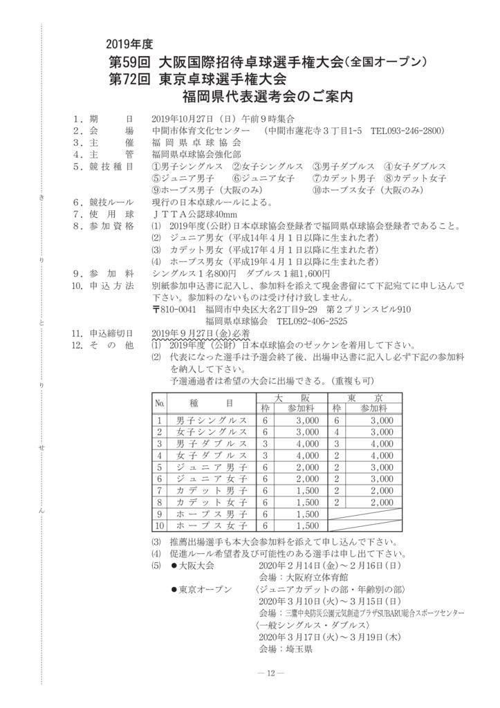 2019年学生7-13大阪国際・東京選手権のサムネイル