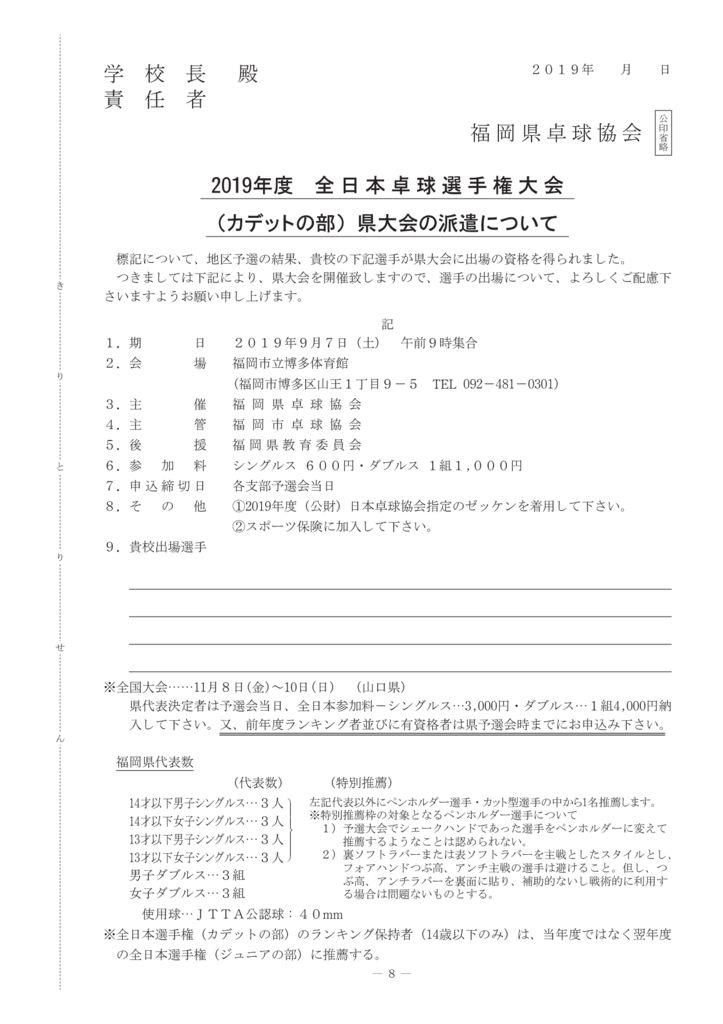 2019年学生7-9全日本カデットのサムネイル