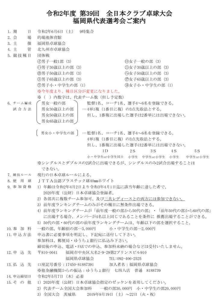 令和2年度全日本クラブ予選会要項6.6のサムネイル