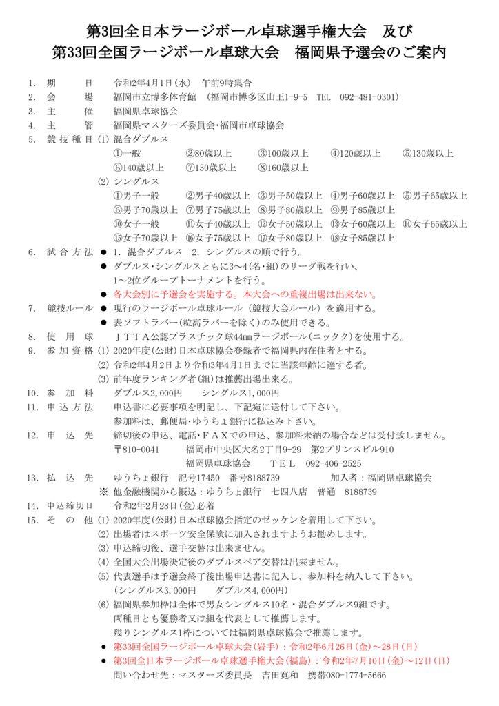 令和2年度全日本・全国ラージボール大会予選会4.1のサムネイル