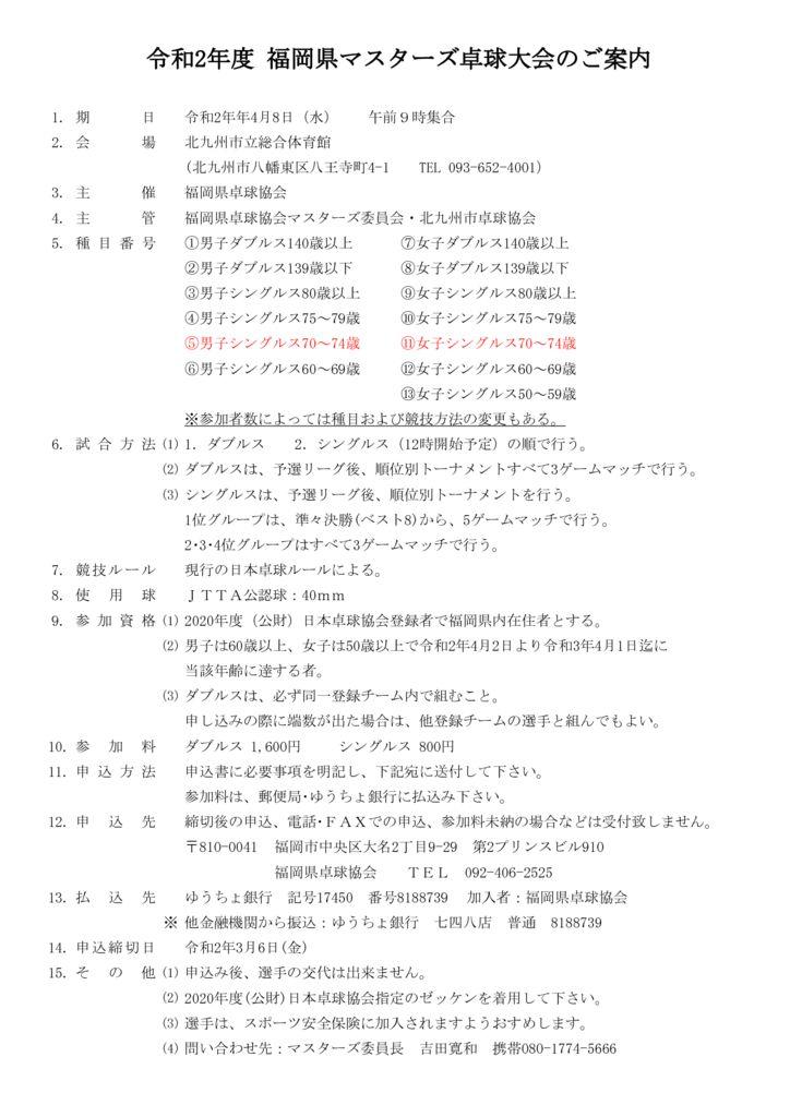 令和2年度福岡県マスターズ4.8のサムネイル