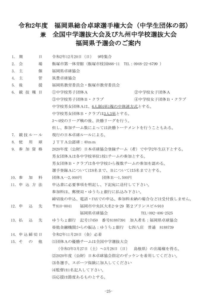 P25 福岡県総合(中学団体)要項のサムネイル