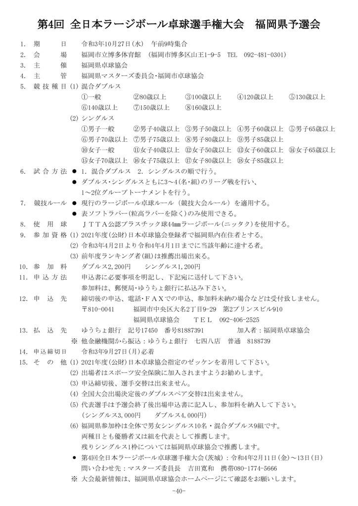 40.令和3年度全日本・全国ラージボール大会予選会10.27のサムネイル