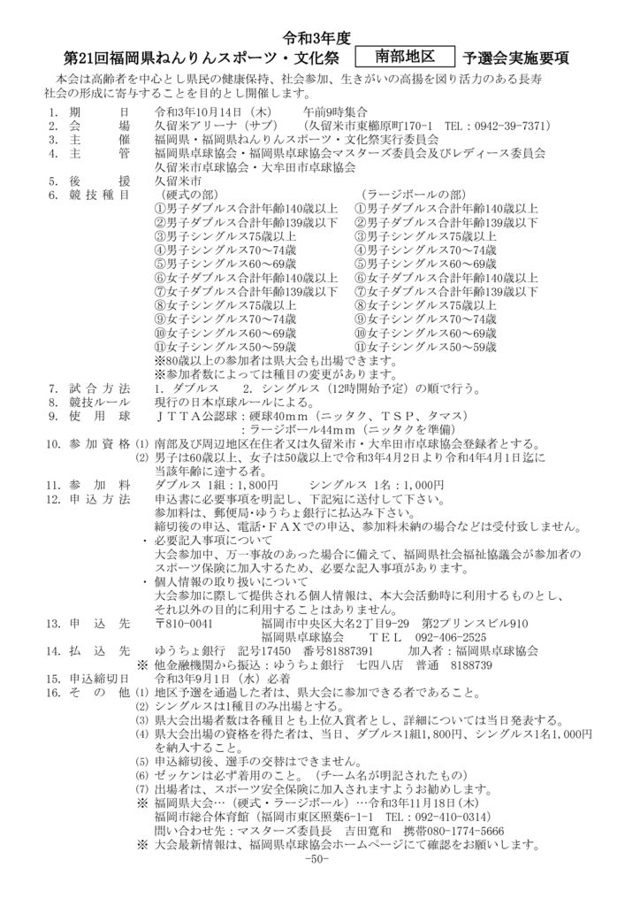 50.県ねんりん(南部)要項のサムネイル